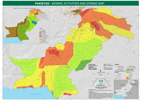 earthquake zones in pakistan pakistan seismic activities and zoning map as of 07