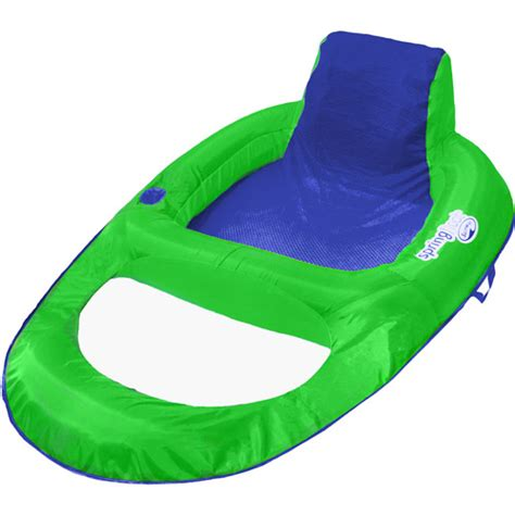 spring float recliner with canopy swimways spring float recliner lime walmart com