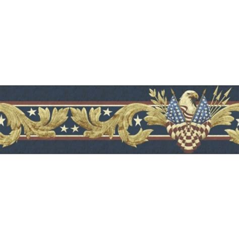 Peel And Stick Wallpaper Reviews Patriotic American Eagle Peel And Stick Wallpaper Border