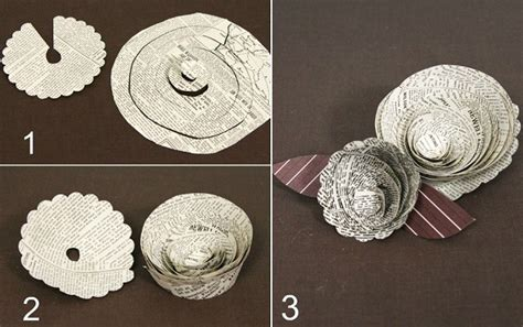 How To Make Paper Flowers From Newspaper - paper crafts diy flowers celebrations at home
