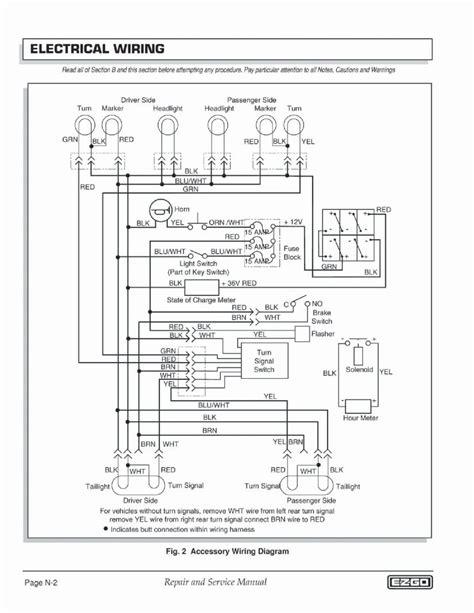 ezgo  volt battery wiring diagram wiring diagram