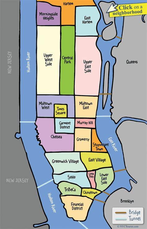 map of new york city neighbourhoods nyc manhattan neighborhood map