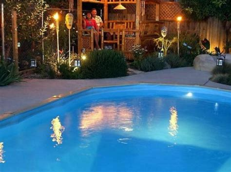 pool lighting ideas 40 uniquely awesome above ground pools with decks