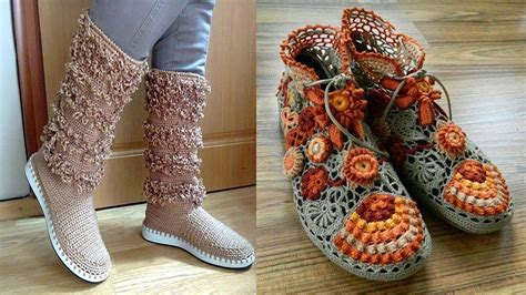 zapatos crochet paso a paso youtube como tejer botas y zapatos para damas tejidos a crochet el