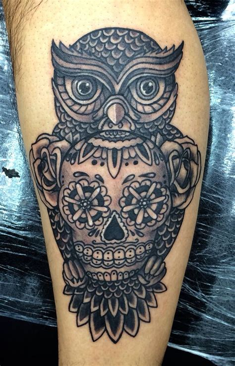 skull candy tattoo 25 best ideas about owl skull tattoos on