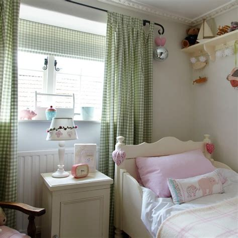 green gingham curtains nursery country style girl s bedroom with gingham curtains