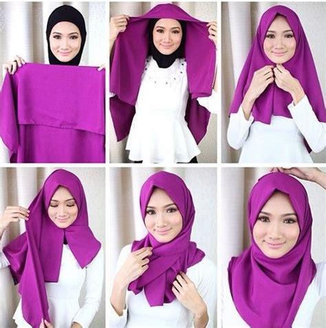 tutorial jilbab segi empat renda cara memakai jilbab segi empat tutorial terbaru 2017