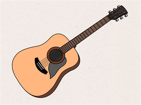 tutorial gitar when i was your man how to draw an acoustic guitar 15 steps with pictures