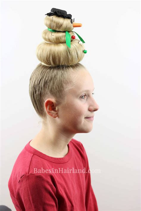 Hair Day snowman hairstyle for hair day or