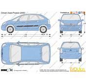 The Blueprintscom  Vector Drawing Citroen Xsara Picasso