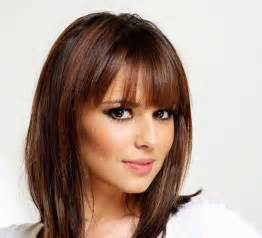 hairstyles medium length with wispy fringe and slightly curly wispy bangs short hairstyle 2013
