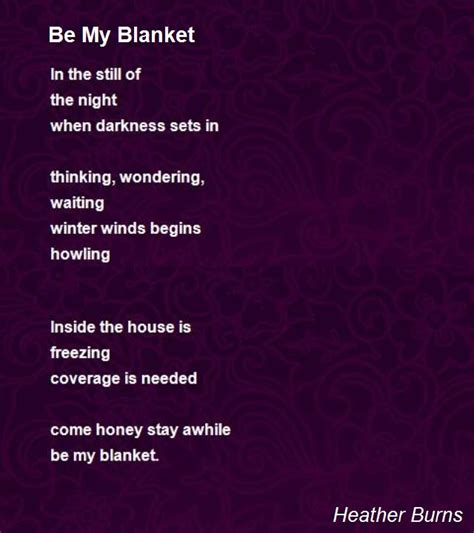be my be my blanket poem by burns poem