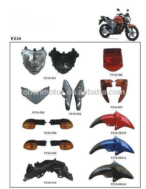 Sparepart R 150 cubierta de la motocicleta de repuesto repuestos cuerpo repuestos para yamaha fz16 partes de