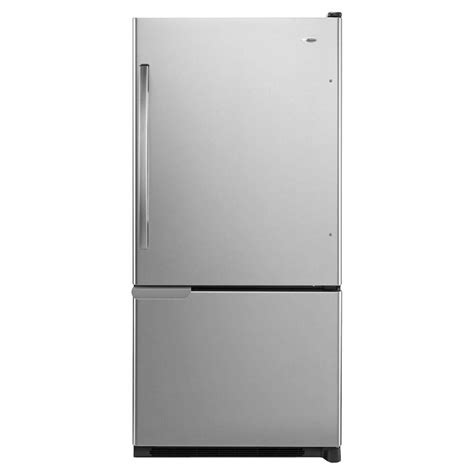 amana 30 in w 18 7 cu ft bottom freezer refrigerator in
