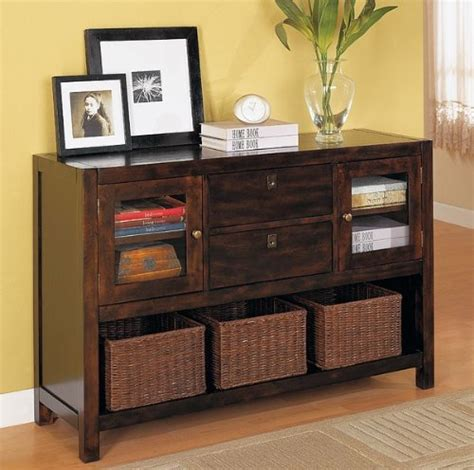storage sofa table beautiful storage console sofa table w baskets new best