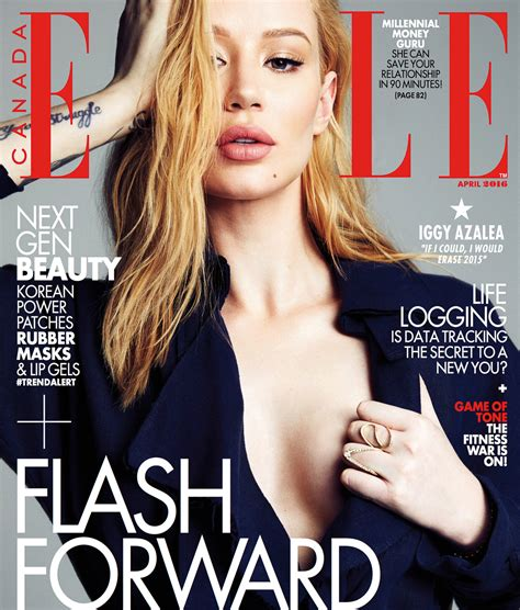 canadian celebrity magazines iggy azalea covers elle canada magazine rap dose