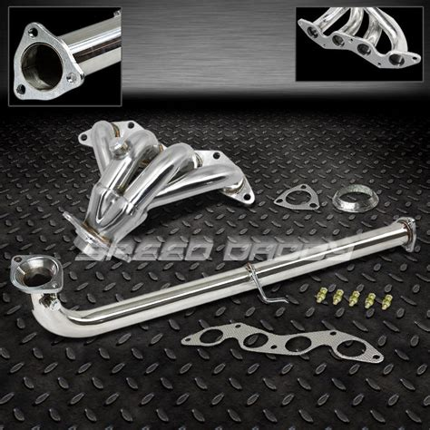 Sdd Ss 1 1 2 Stainless Pesan 4 1 stainless racing header downpipe exhaust for 01 05 civic ex em2 es2 d17a2 ebay