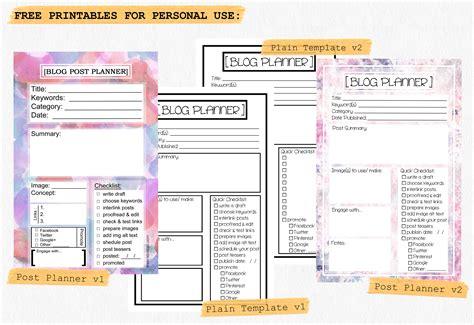 Blog Post Calendar Template starting the year organized