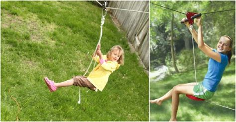 zipline for kids backyard backyard kids zipline how to instructions