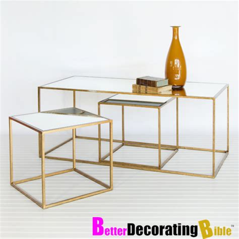 Gold Metal Coffee Table by June 2011 Spray Paint