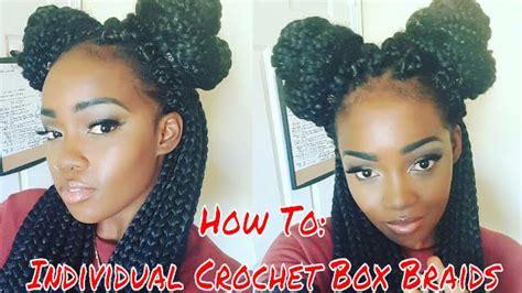 box braids vs individuals how to individual crochet box braids youtube
