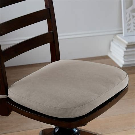 canvas desk chair cushion pbteen
