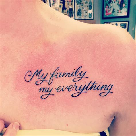 family tattoo quotes 33 fabulous collar bone tattoos that flatter your shape