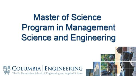 Master Of Science In Engineering Management Vs Mba by Master Of Science Program In Management Science And