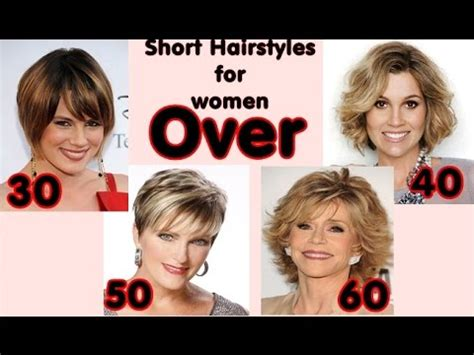 latest short hairstyles for women over 30, 40, 50, 60