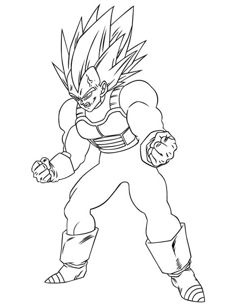Gallery Dragon Ball Z Coloring Pages Vegeta
