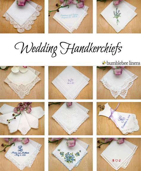 Wedding Handkerchiefs, Bridal Handkerchiefs, Wedding Hankies