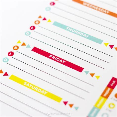 free editable printable meal planner editable meal plan printable printable crush