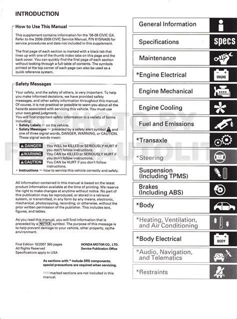 car repair manuals online free 2003 honda civic free book repair manuals service manual 2003 honda civic gx factory service manual service manual free repair manual