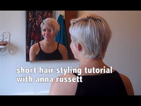 how to style hair that is shorter in the back than the front how to style short hair youtube
