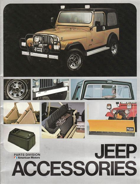 Jeep Accessories Catalog Image 1982 Jeep Accessories 1982 Jeep Accessories Catalog 00