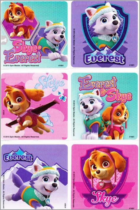 Paw Patrol Stickers   Everest & Skye Design   Party