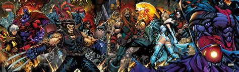 x men age of apocalypse cyclops is the center figure of a cool new x men age of apocalypse 5 cover spread ign boards