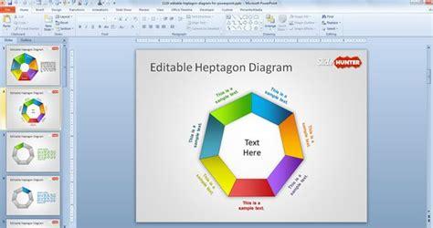 free editable powerpoint templates free editable heptagon diagram for powerpoint free