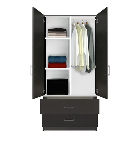 Armoire Closet Wardrobe by Alta Wardrobe Armoire 2 Drawer Wardrobe Shelves Hangrod Contempo Space