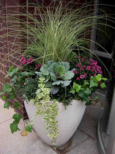 Flower Containers Fall Containers And Flower On Pinterest Container Plant Ideas Front Door