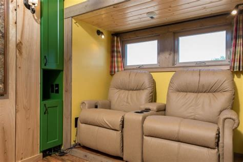tiny house seating expanding tiny house with slide outs that will amaze you