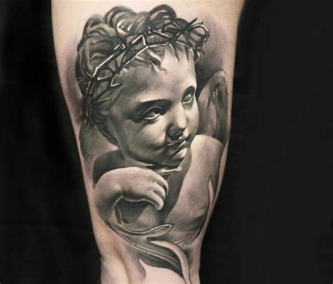 baby angel tattoo by sergey shanko no 1839