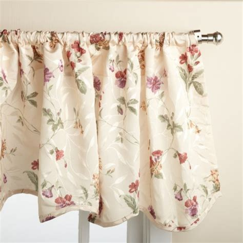 lorraine home fashions curtains lorraine home fashions whitfield floral 52 inch x 18 inch