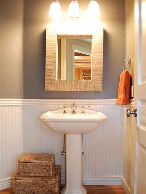 small powder bathroom ideas photos hgtv
