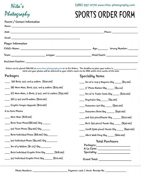 10 Best Images Of Photography Order Form Envelopes Lifetouch School Portraits Order Form Free Sports Photography Order Form Template