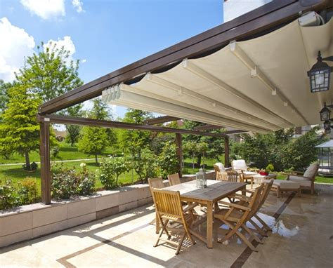 Deck Tarp Awning Retractable Roofing Systems Image Blinds