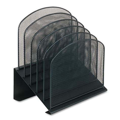 Mesh Desk Organizer Safco 3257bl Mesh Desk Organizer Five Tiered Sections Steel 11 1 4 X 7 1 8 X 11 Saf3257bl