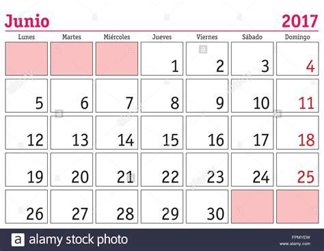 Calendario Junio June Month In A Year 2017 Wall Calendar In Junio