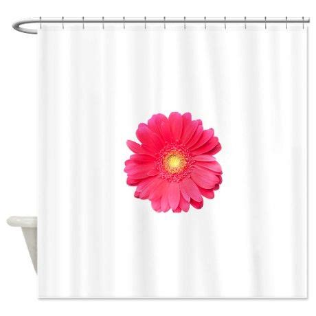 gerber daisy shower curtain pink gerbera daisy isolated on whit shower curtain pink