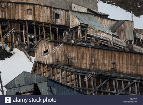 Dilapidated Buildings Of Abandoned Former Coal Mine At